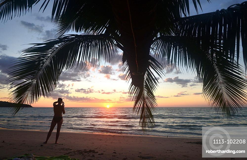 Sunset on Long Chao Beach, Island of Kut, Golf of Thailand, Thailand