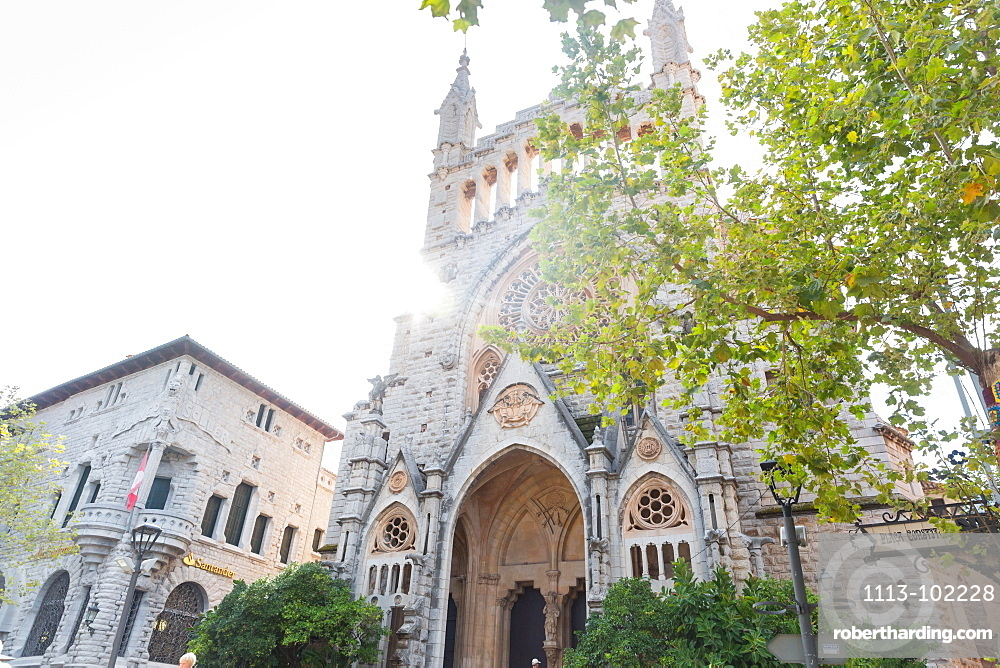 church of Sant Bartomeu, Soller, Serra de Tramuntana, Majorca, Balearic Islands, Spain, Europe