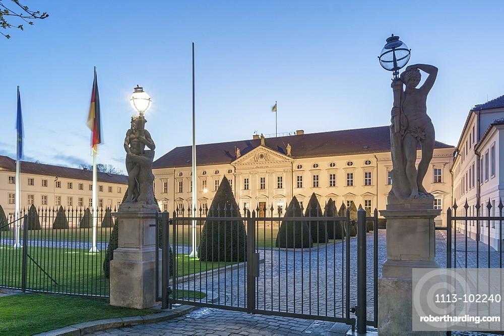 Bellevue Palace, Office of the Federal President, Tiergarten, Berlin, Germany