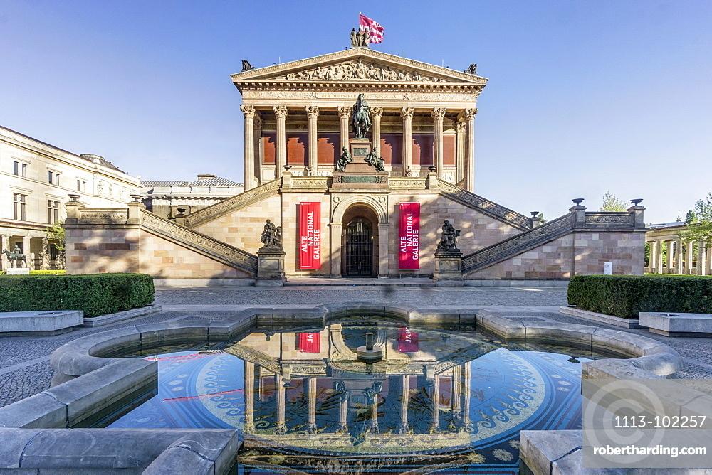 Old National Gallery, Museum Island, Berlin Mitte, Berlin, Germany