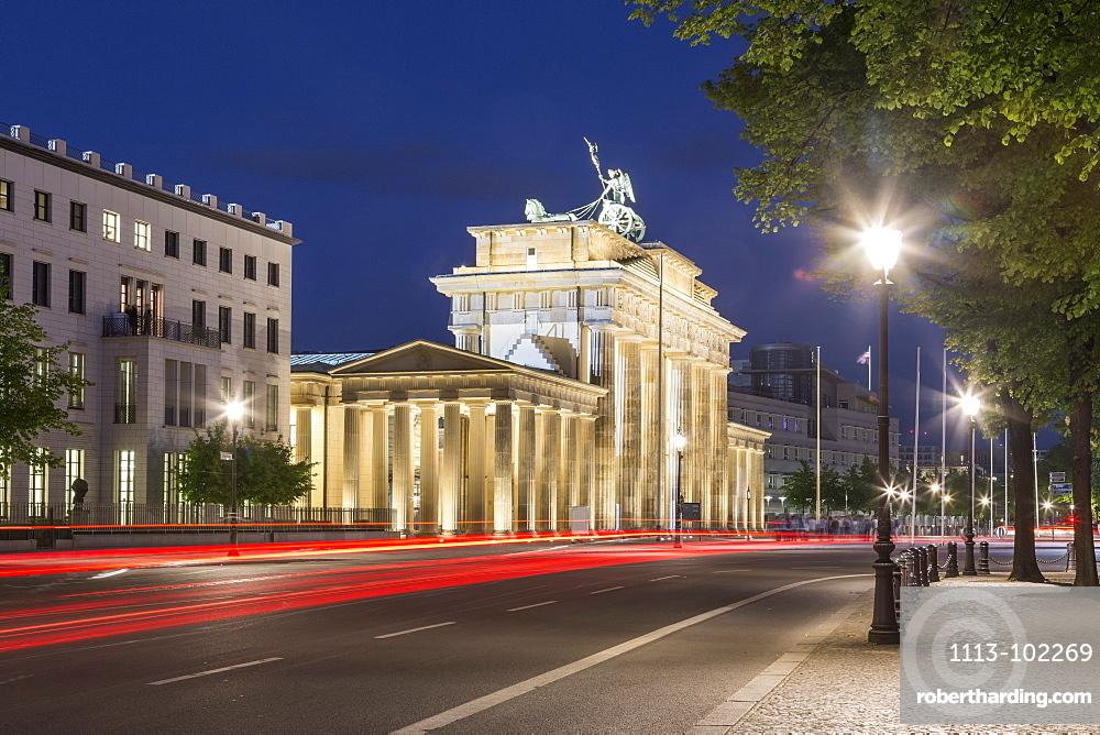 Brandenburg Gate at Twilight, Berlin, Germany