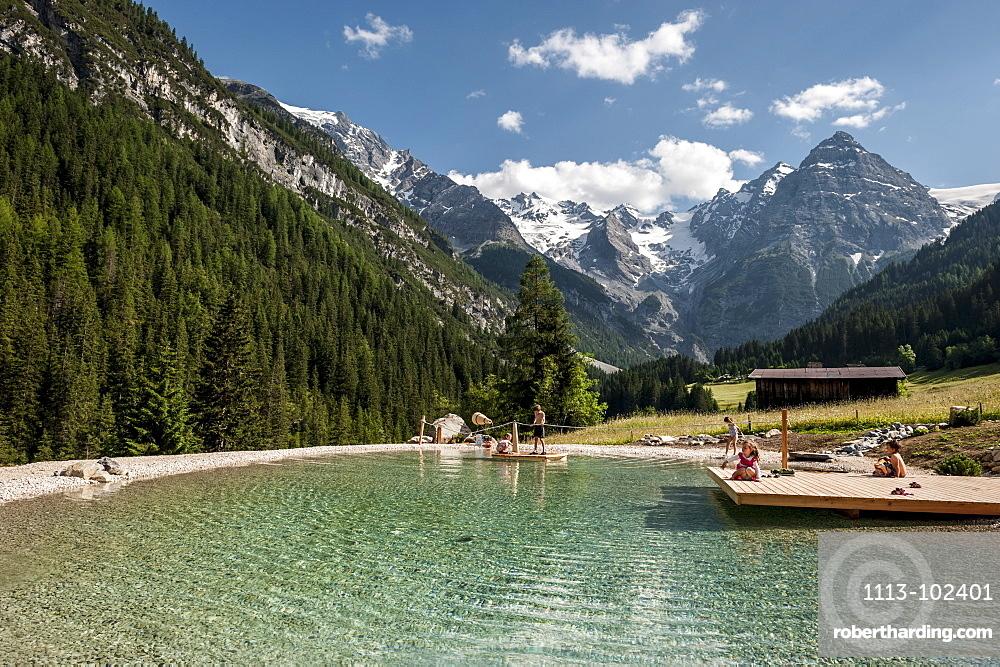 Mountain lake, Ortler, alps,  Trafoi, Trentino, Alto Adige, South Tyrol, Italy, Europe