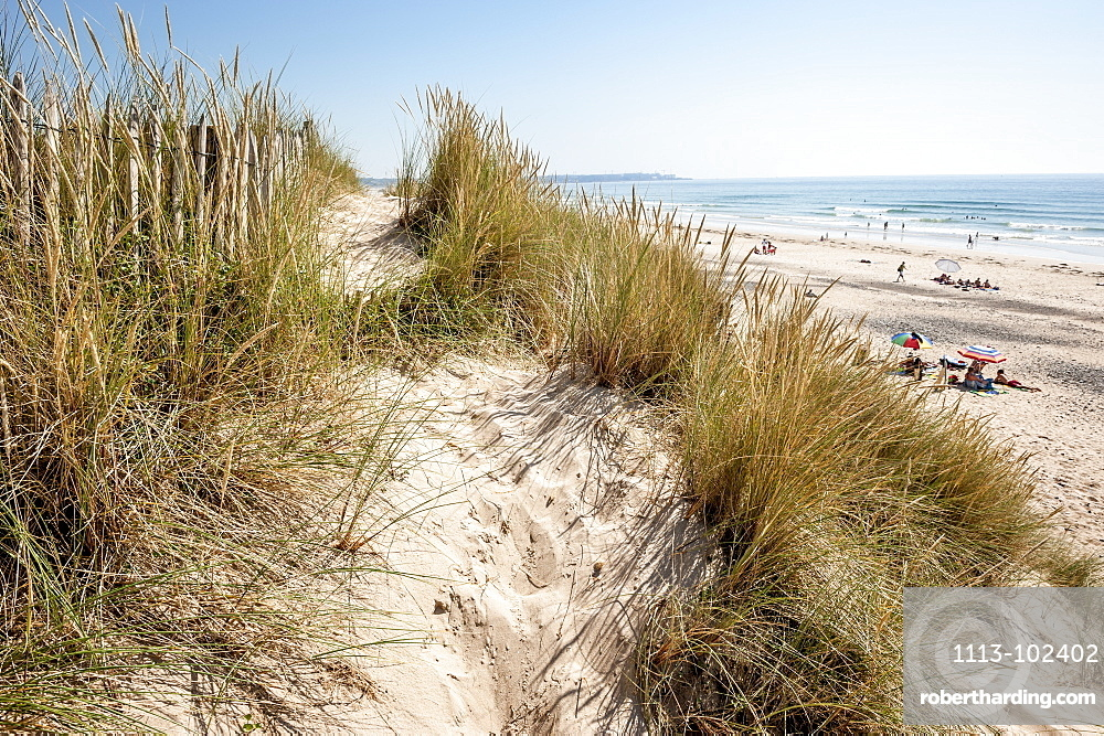 Dunes and beach at Baubigny, Normandy, France, Europe, Atlantic Ocean