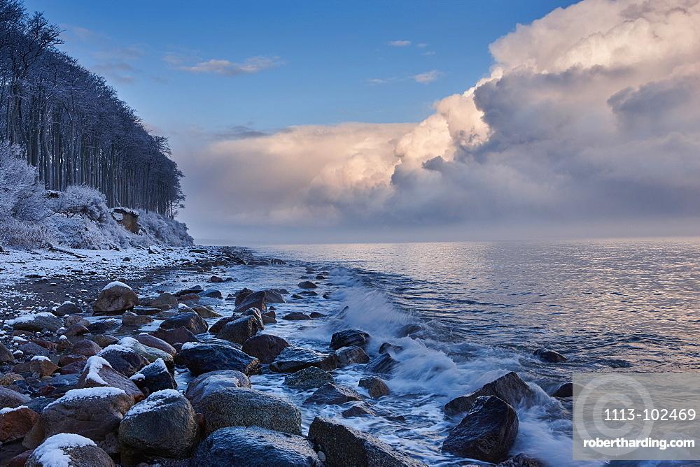 Winter along the Baltic Sea Coast, Heiligendamm, Mecklenburg Western Pomerania, Germany