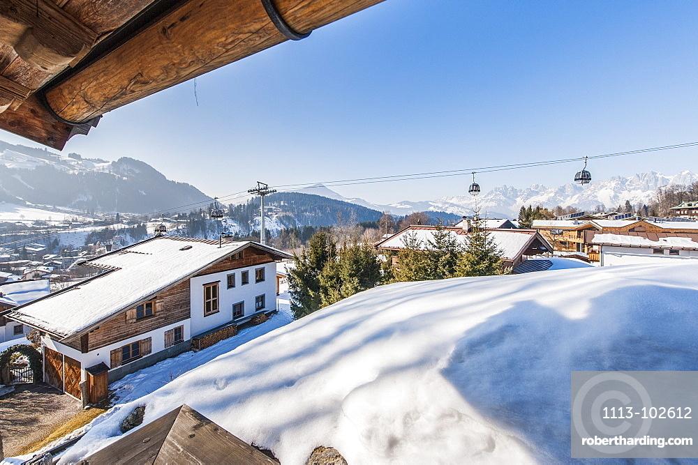 14 mio house with view of Kitzbuehel and Hahnenkamp, Kitzbuehel, Tyrol, Austria, Europe