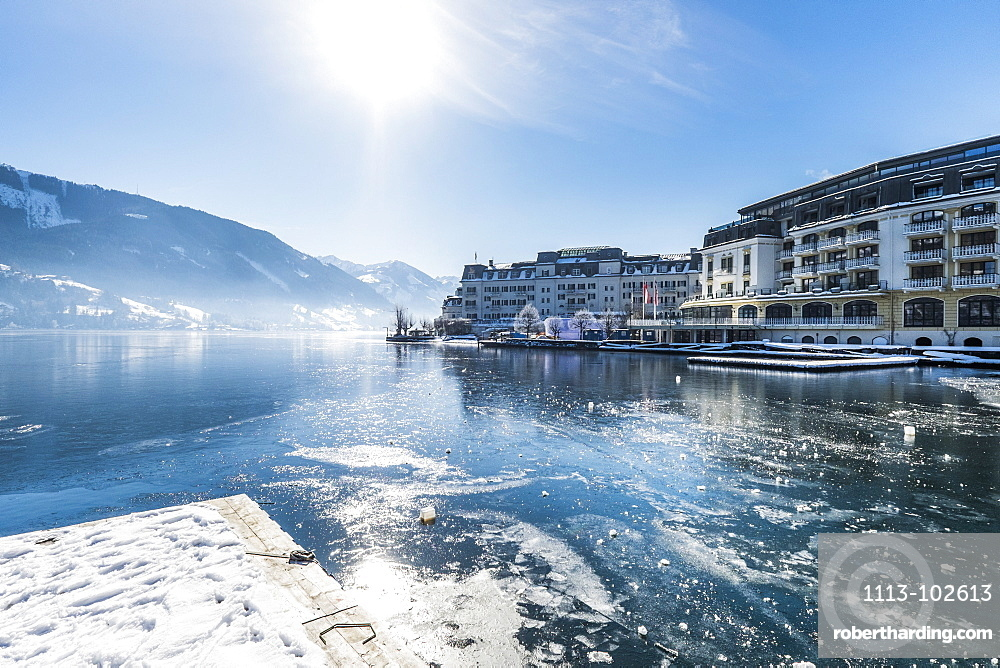 view to the Grand hotel Zell am See, Salzburger Land, Austria, Europe