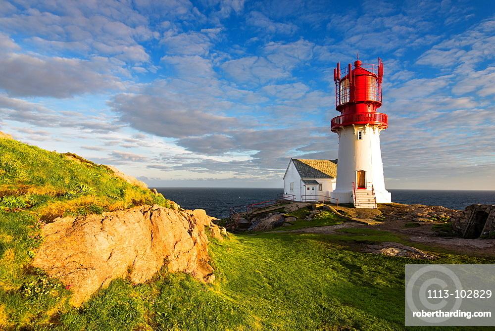 Sunset, Lighthouse, Lindesnes, Vest-Agder, Norway, Europe