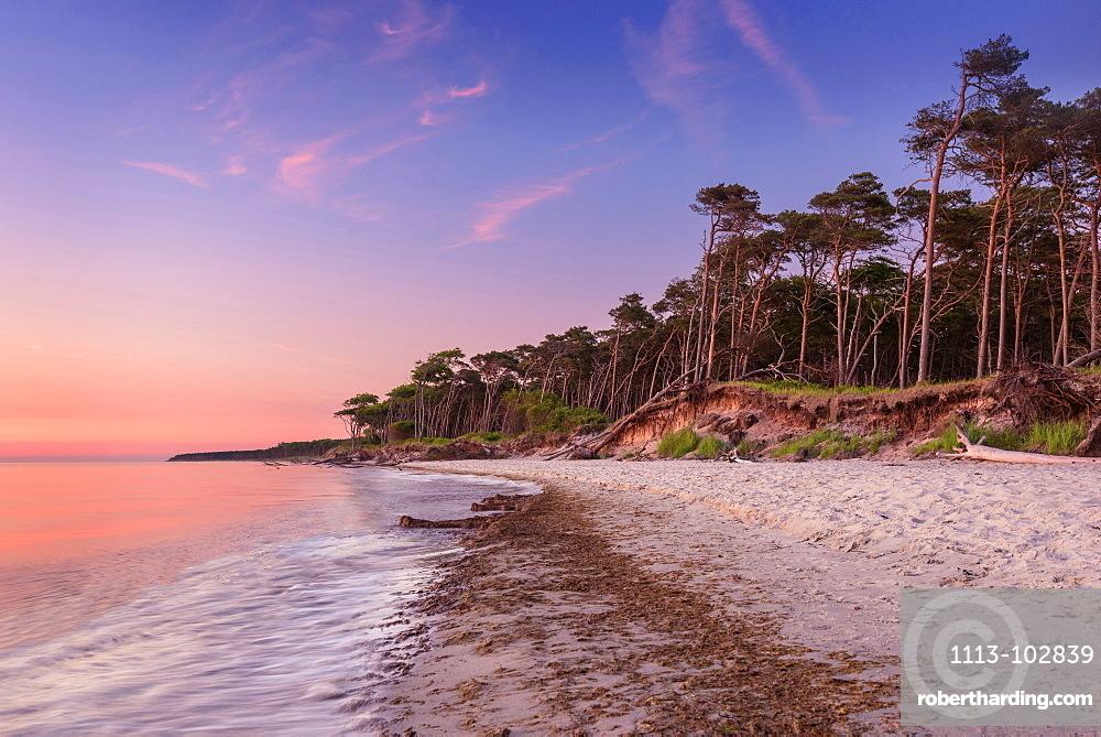 Summer, Beach, West Beach, Sunset, Baltic Sea, Mecklenburg, Germany, Europe