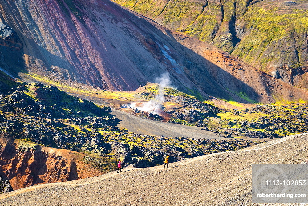 Brennsteinsalda, Volcano, Hiking Landmannalaugar, Mountains, Highlands, Iceland, Europe