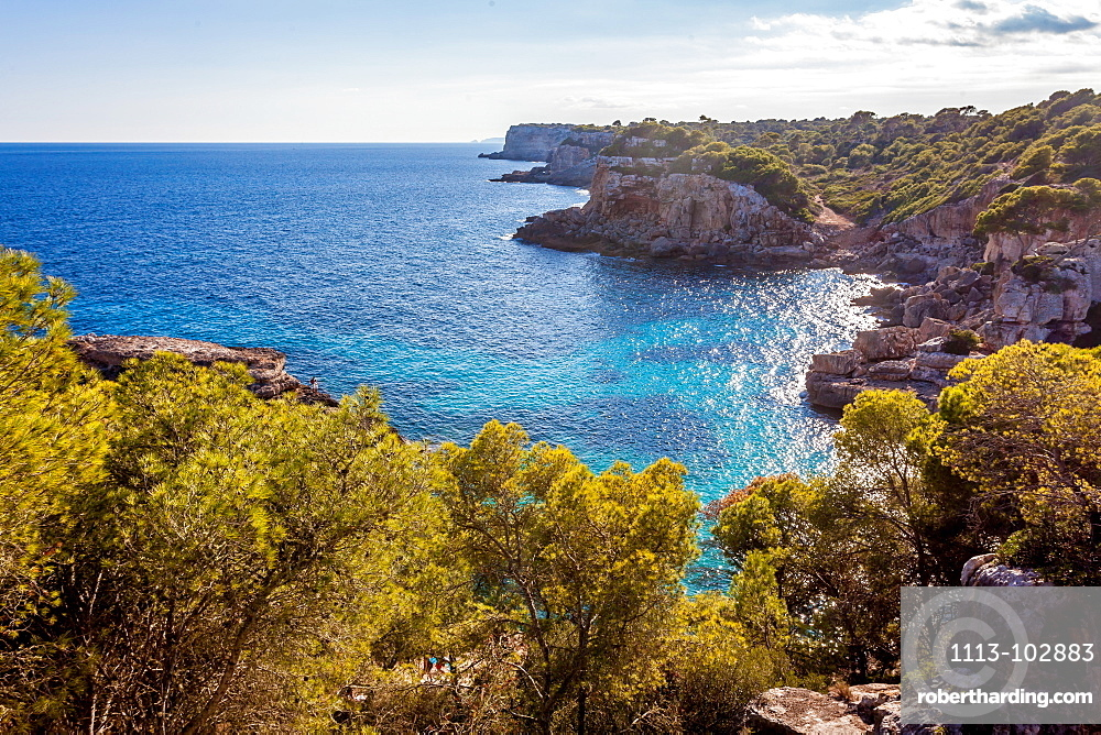 Idyllic beach of Cala s'Almunia, Mallorca, Balearic Islands, Spain