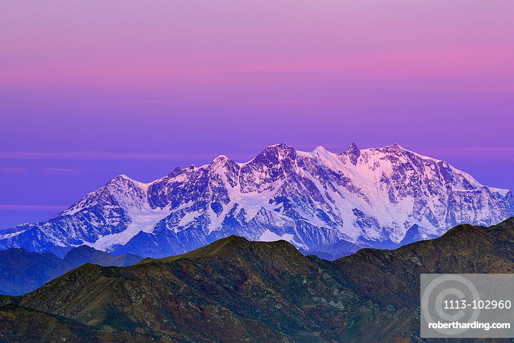Monte Rosa, Valais, view from Mottarone, Piedmont, Italy