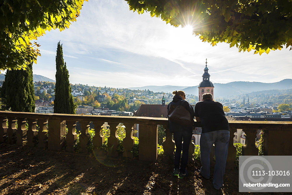 View of Baden-Baden, Black Forest, Baden-Wuerttemberg, Germany