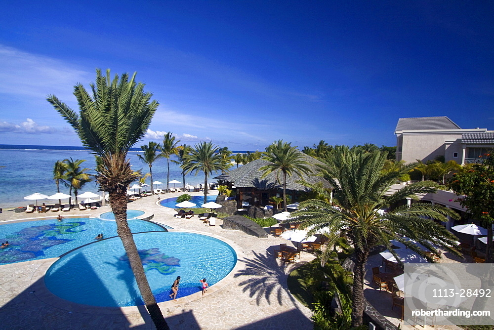 Pool of Hotel The Residence, Belle Mare plage, Mauritius, Africa