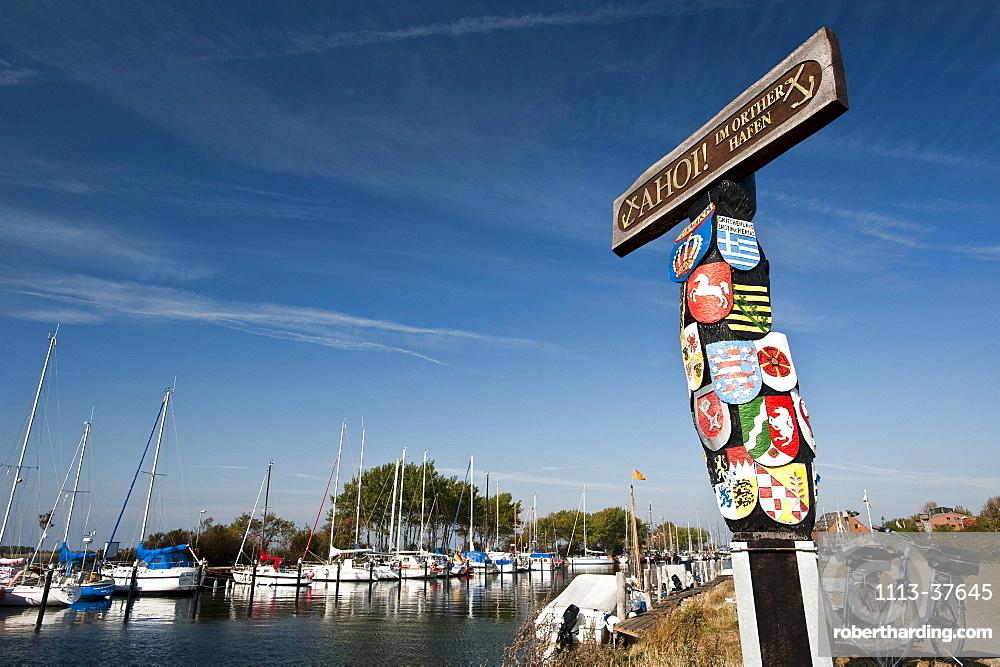 Port of Orth, Fehmarn, Schleswig-Holstein, Germany