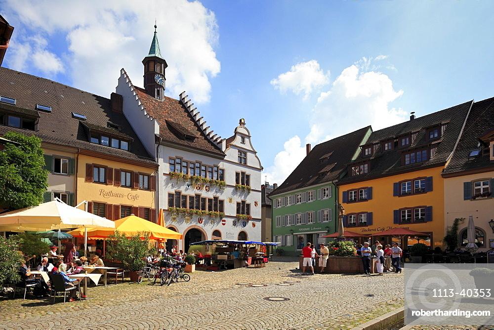 City hall at the market place, Staufen im Breisgau, Breisgau-Hochschwarzwald, Black Forest, Baden-Wuerttemberg, Germany