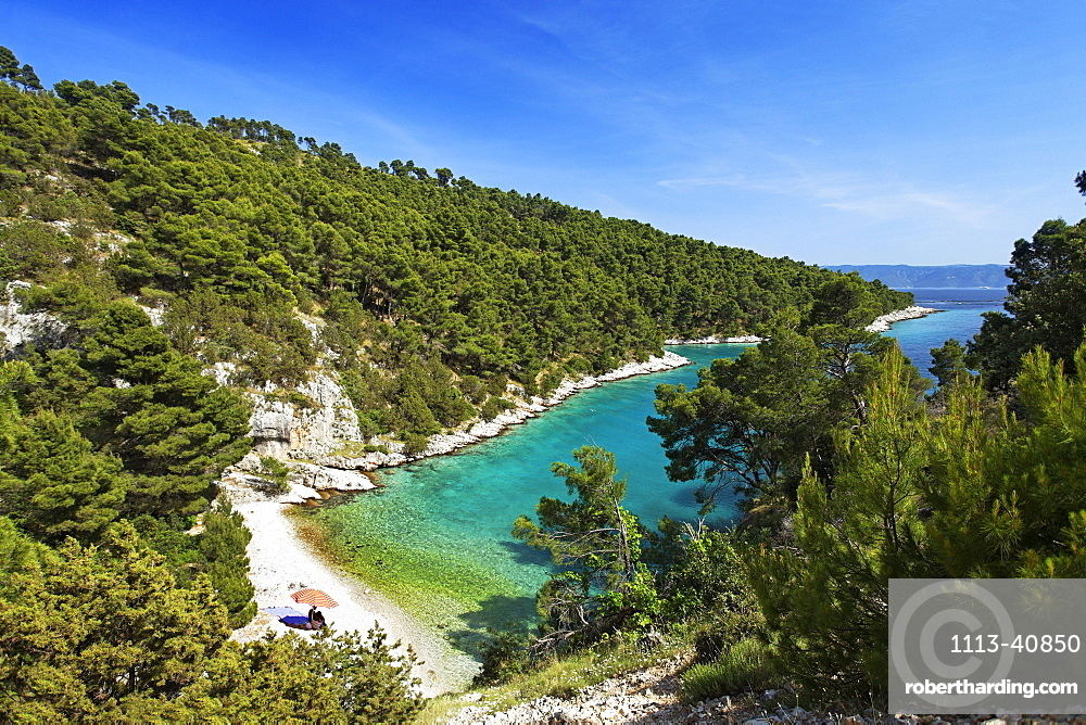 Bathing bay, Brac, Split-Dalmatia, Croatia