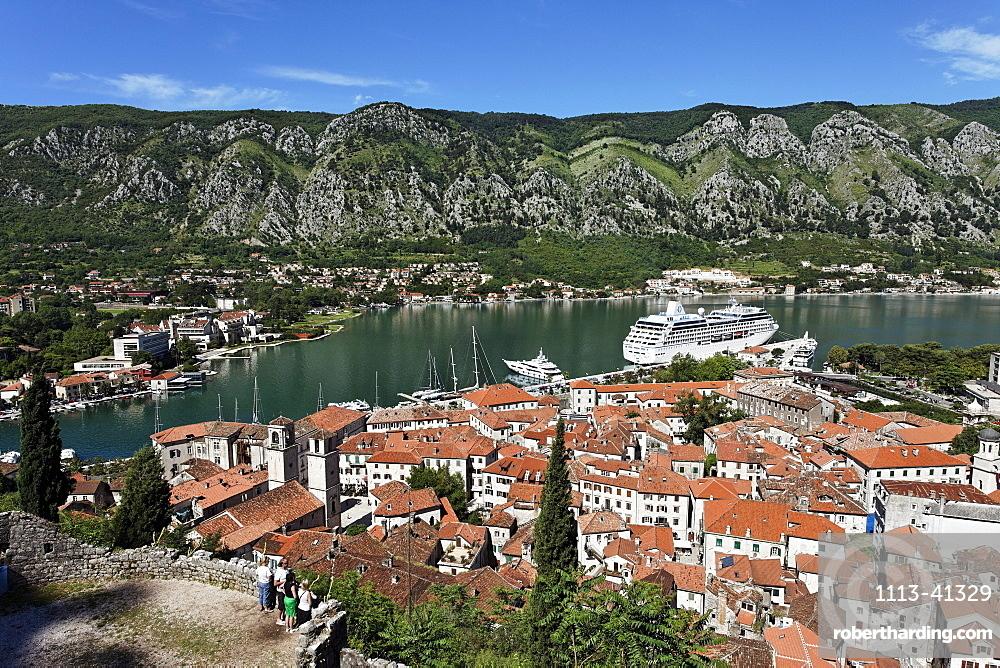 City view of Kotor and Bay of Kotor, Montenegro, Europe
