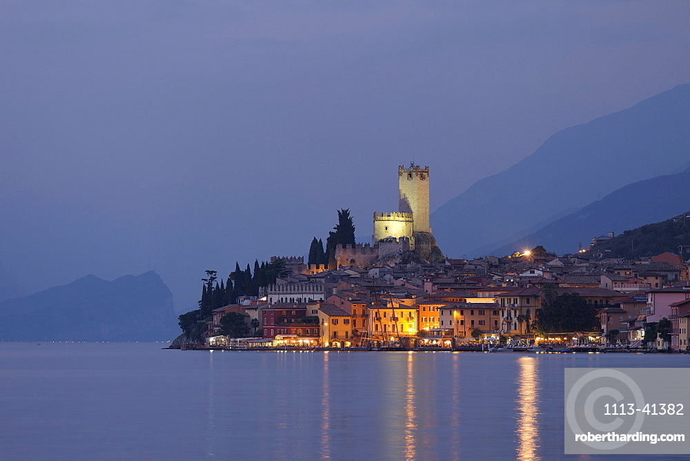 Evening mood, Malcesine, Lake Garda, Veneto, Italy