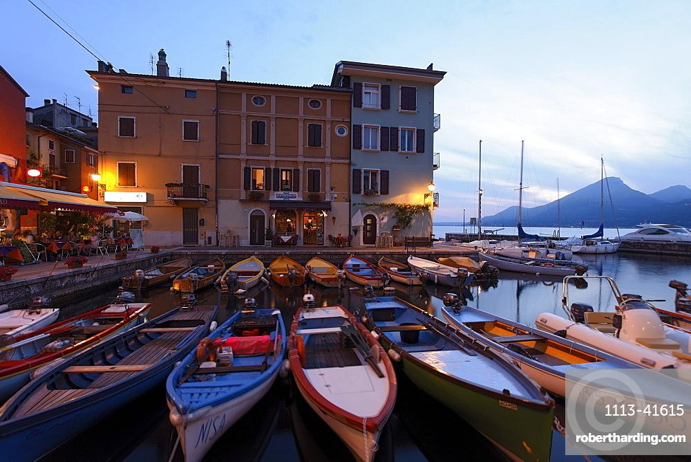 Boats, Harbor, Castelletto di Brenzone, Lake Garda, Veneto, Italy
