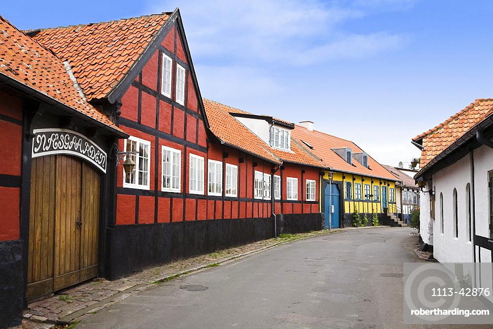 Frame houses in Allinge, Bornholm, Denmark, Europe