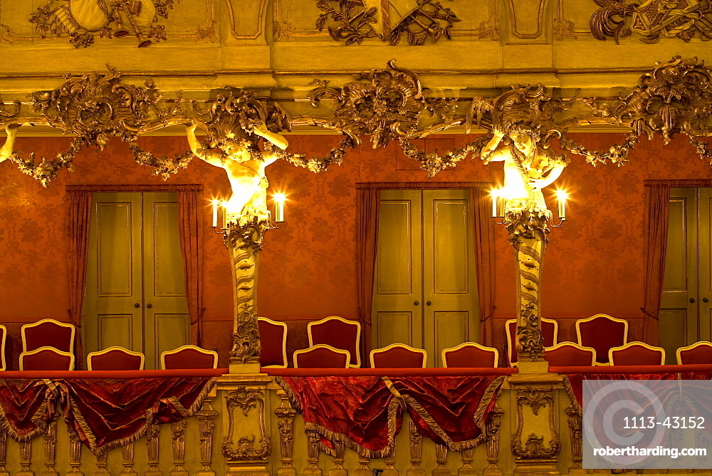CuvilliÈs-Theater, or Old Residence Theatre, Altes Residenztheater, is the former court theatre of the Residence in Munich, Munich, Bavaria, Germany, Europe