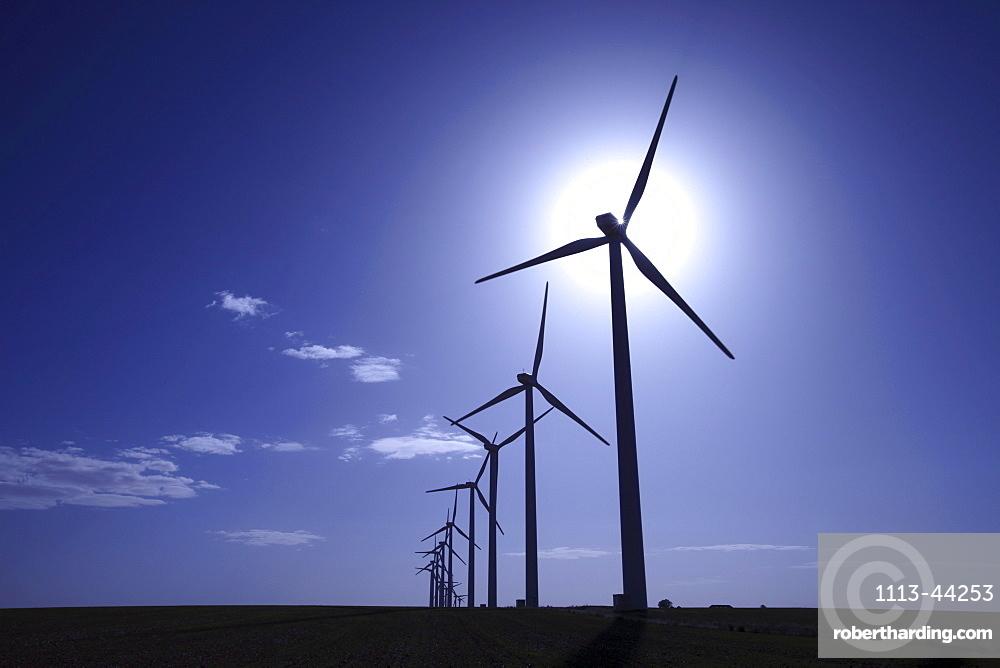 Windpark Atalaya de Canavate, Honrubia, La Mancha, Castilla, Spain