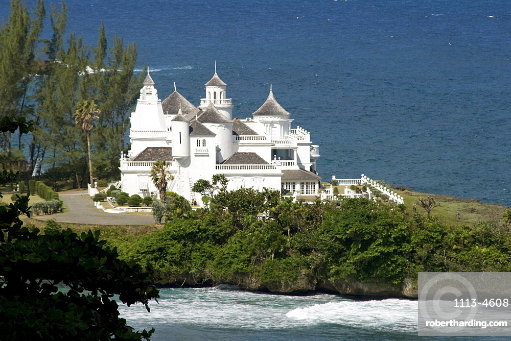 Jamaica Port Antonio Trident Castle Luxery Villa with helicopter pad pool and 8 servants