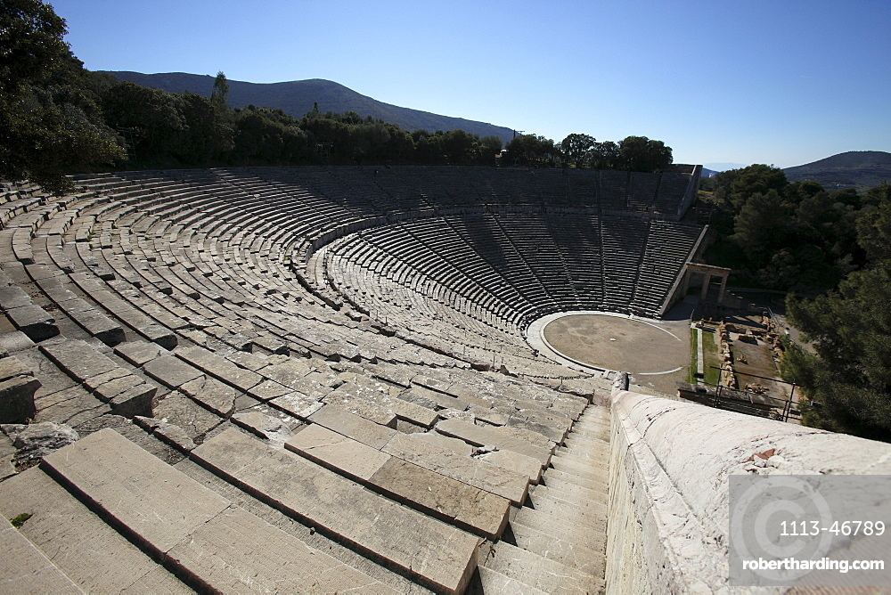Amphitheatre of Epidaurus, Peloponnes, Greece