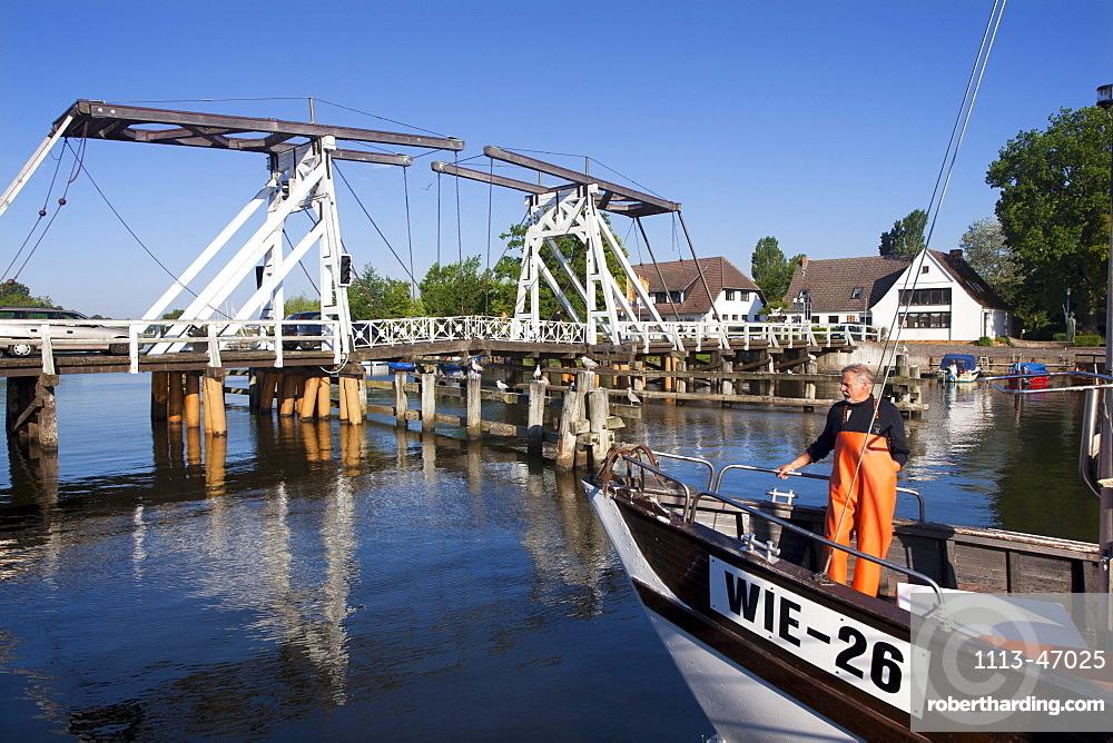 Drawbridge at Greifswald-Wieck, Baltic Sea, Mecklenburg-West Pomerania, Germany