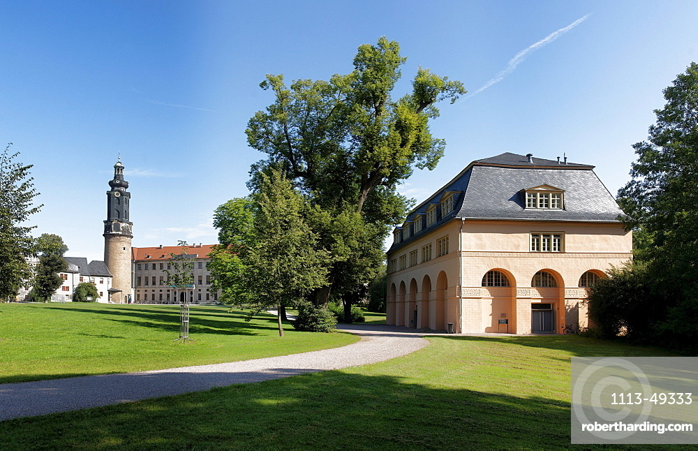 City castle, UNESCO World Heritage Site, Park an der Ilm, Weimar, Thuringia, Germany