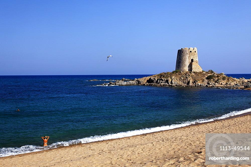 Spanish Tower, Torre di Bari, Bari Sardo, Ogliastra Province, Sardinia, Italy