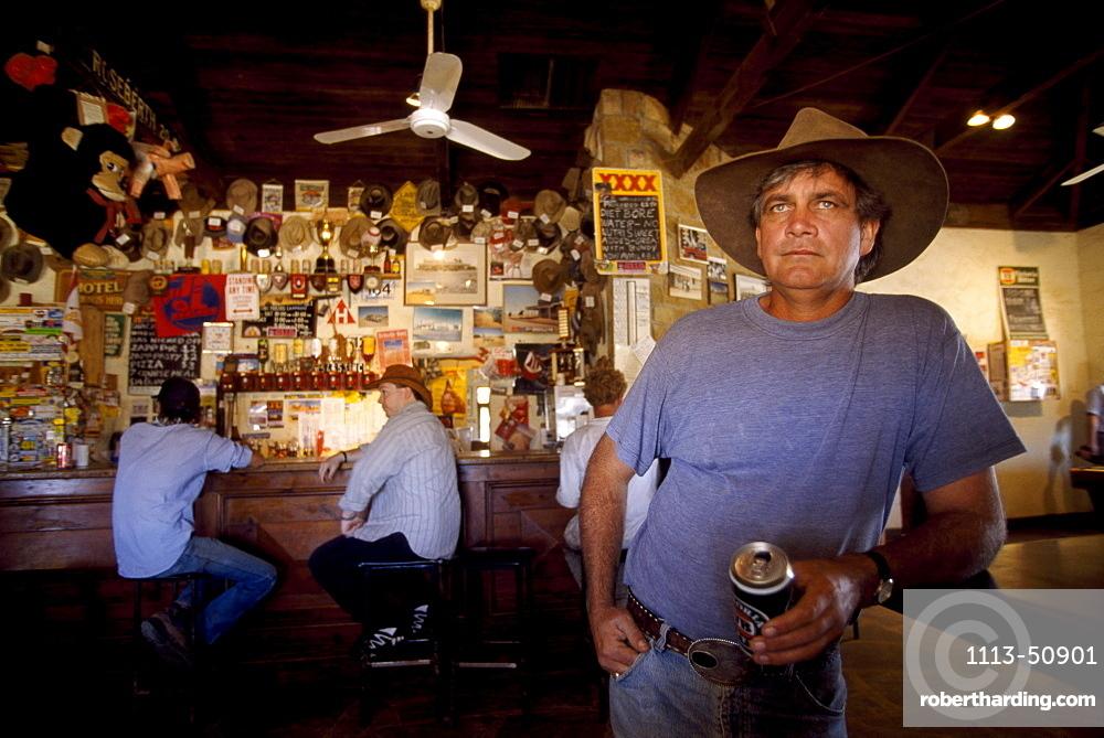 Fred Brophy, showman, pub of Birdsville, Queensland, Australia
