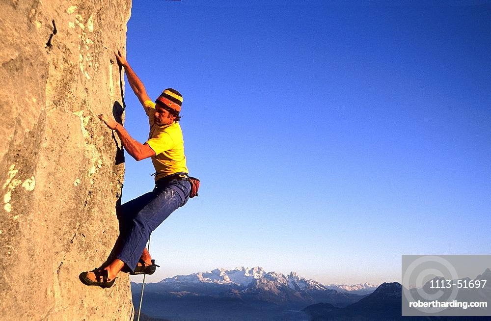 Freeclimber, Gitschenwand, Salzburger Land, Austria