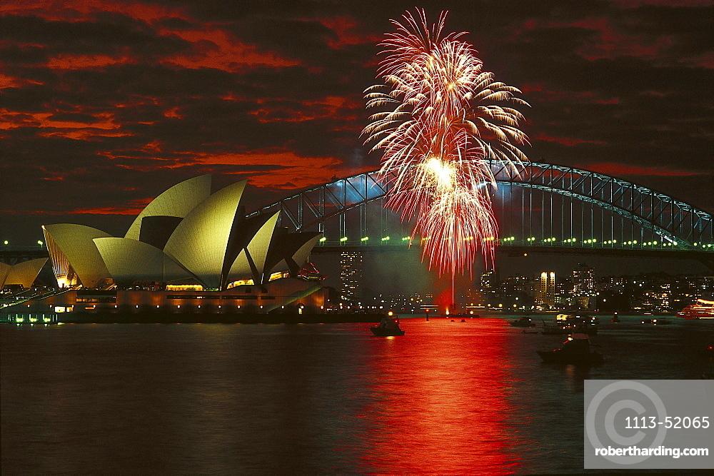 Sydney Opera House and Harbour Bridge, Sydney, NSW, Australia