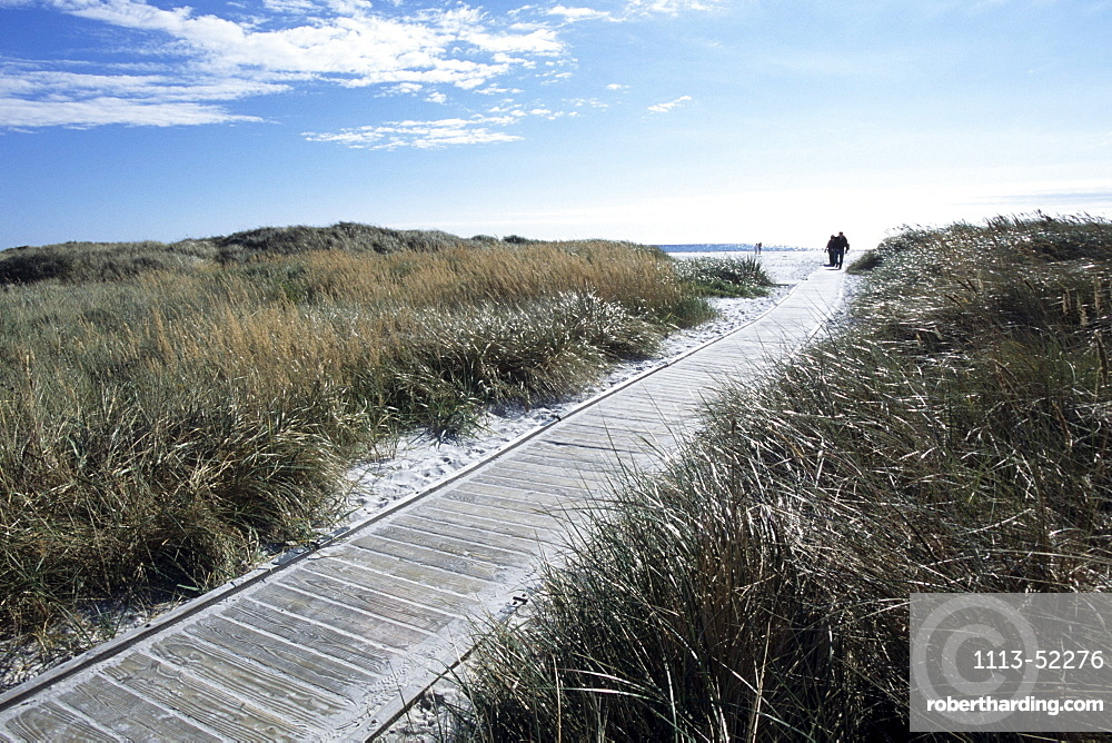 Dueodde Beach Boardwalk, Dueodde, Bornholm, Denmark
