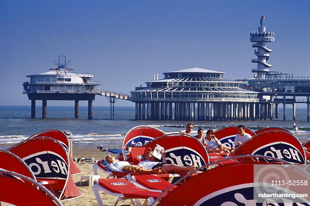 Beach and pier, Scheveningen, Netherlands