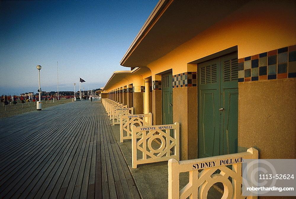Boardwalkat Deauville, Normandy, France
