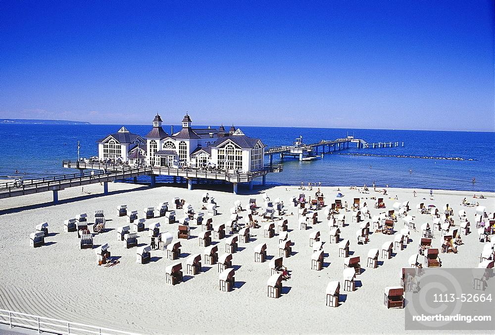 Holiday feeling at the Sea Resort in Sellin, Ruegen Mecklenburg-Vorpommern, Germany