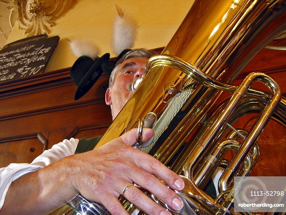 Kirchweih Musikfruehschoppen, Bavarian Folkmusik, Munich, Bavaria, Germany