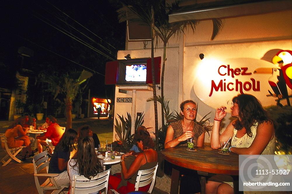 Peole at the bar Chez Michou, Rua de Pedras, Buzios, Brazil, South America, America