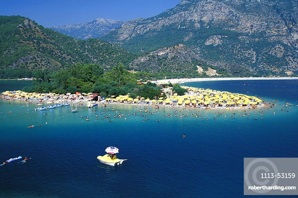 Beach in the Lagoon of Oludeniz, Oludeniz, Lycian coast, Turkey