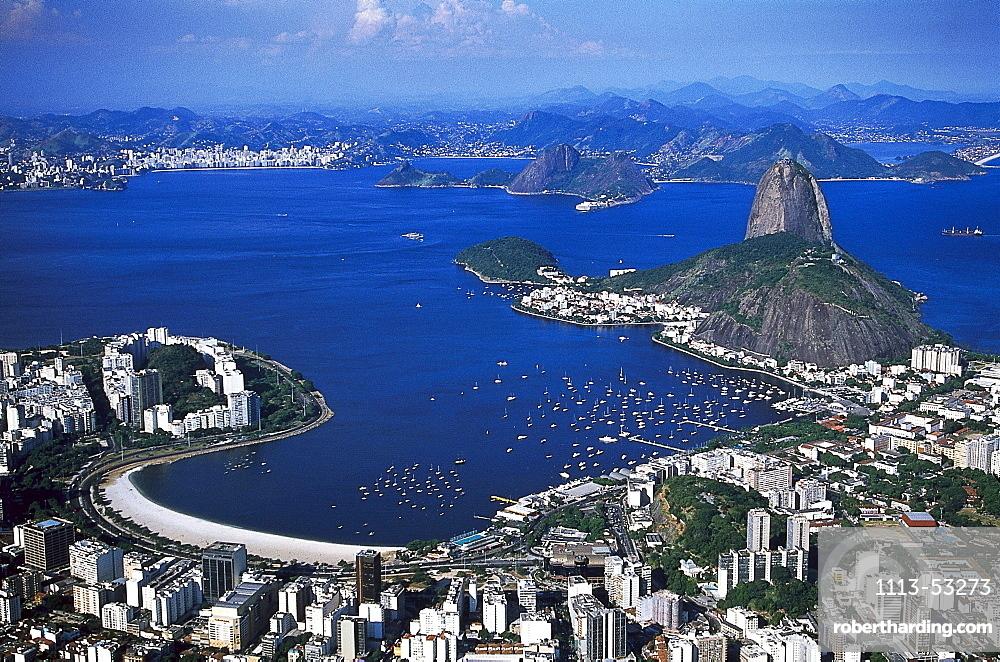 High angle view of the city of Rio de Janeiro, Brazil, South America, America