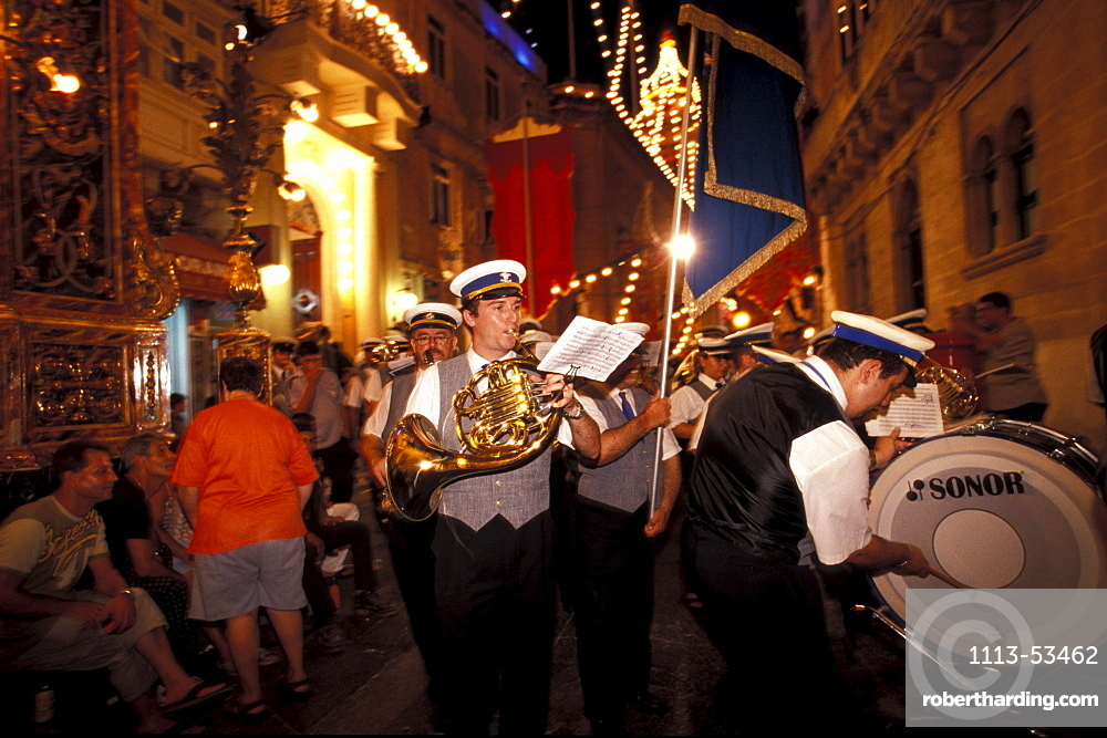 Band of St. Dominik Parade, Vittoriosa, Valletta, Malta, Europe