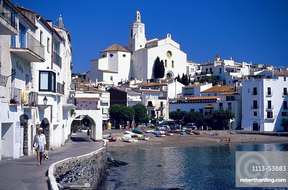 Parroquial Santa Maria Costa Brava, Parroquial Santa Maria in Cadaques, Costa Brava, Catalonia, Spain