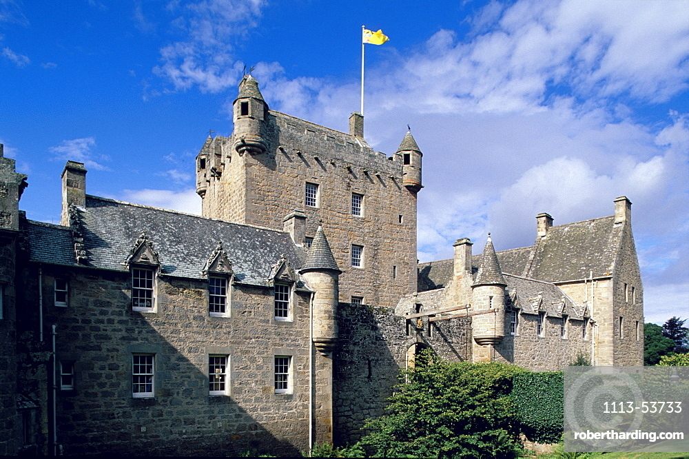 Cawdor castle in the sunlight, Nairn, Highlands, Scotland, Great Britain, Europe