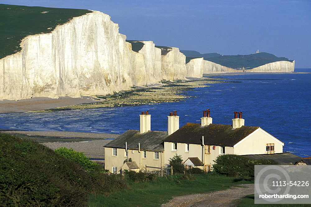 Seven Sisters, limestone cliffs at the coast, Eastbourne, Sussex, England, Great Britain, Europe