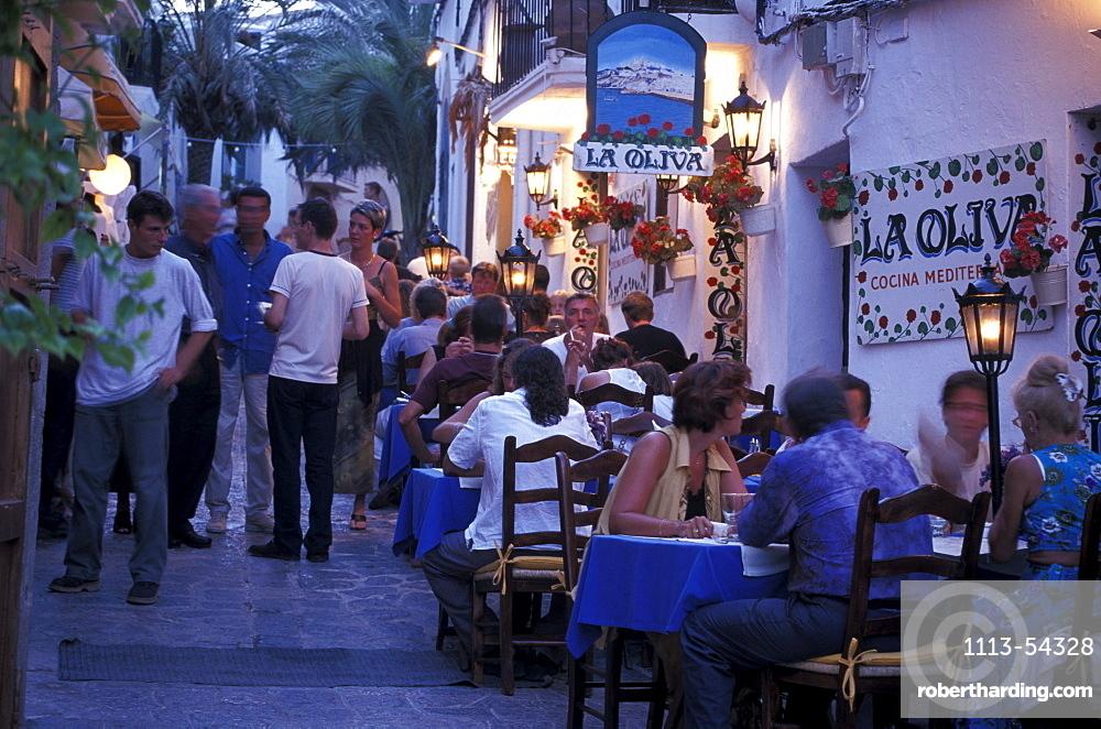 Restaurant La Oliva, Dalt Vila, Ibiza Town, Ibiza, Balearic Islands, Spain