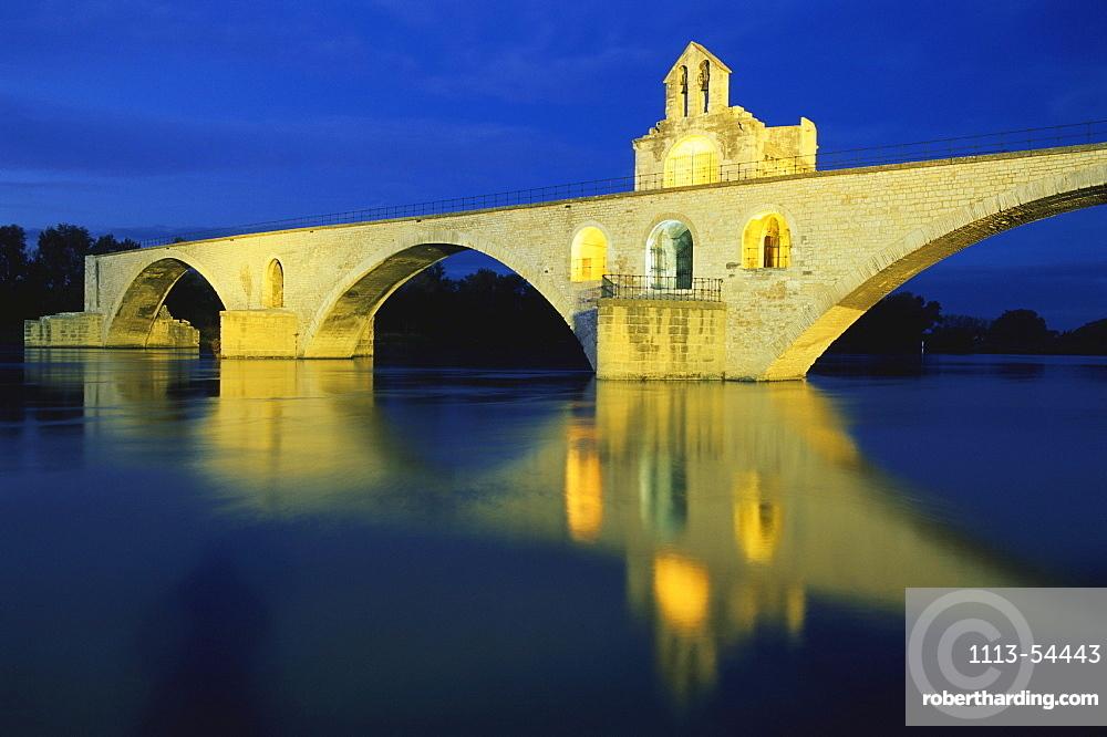 Bruecke, Saint-BÈnÈzet, Rhone, Avignon, Vaucluse Provence, Frankreich, Europe