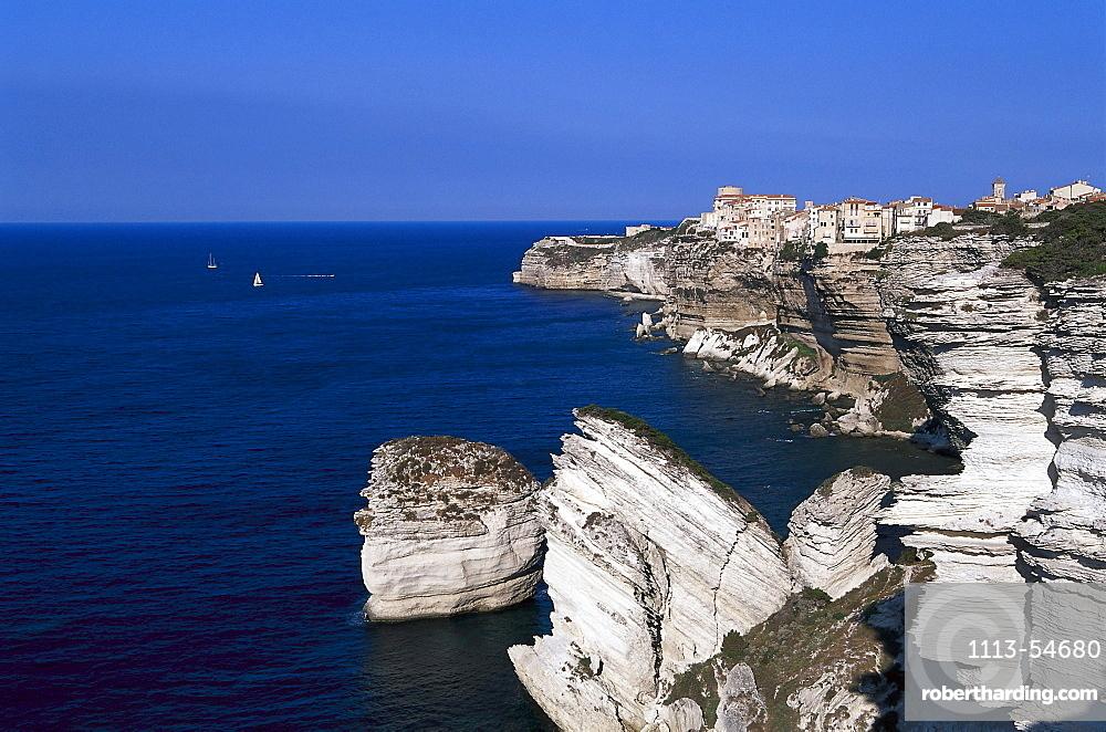 Bonifacio, Falaises, cliff, Bonifacio, Corsica, France