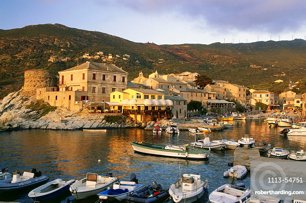 Centuri Port, fishing port with restaurants, Cap Corse, Corsica, France